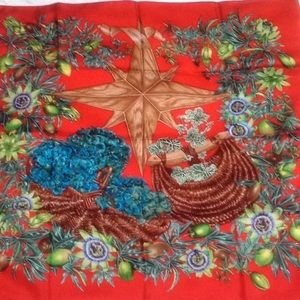Hermes 1996 Passiflores Paris scarf